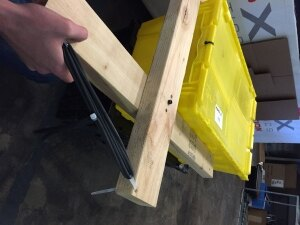 Wooden Claw Prototype - Surgical Tubing