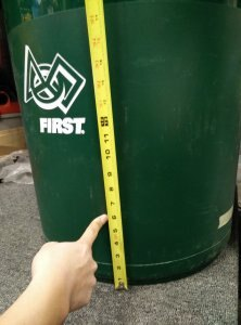 """Pushing a Recycle Rush Container 5"""" from the Ground"""