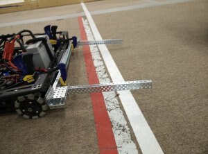 Forks Mounted on Drive Base (close)