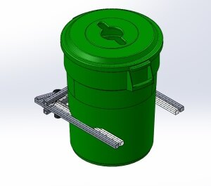 CAD Pinch Claw Holding Container